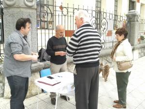 Recogida firmas Jorge y Pepe