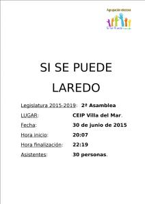 Acta II Asamblea legislatura 2015/19