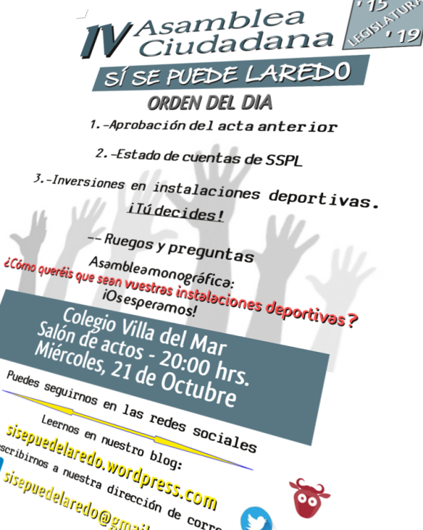 Imagen del cartel de la IV asamblea