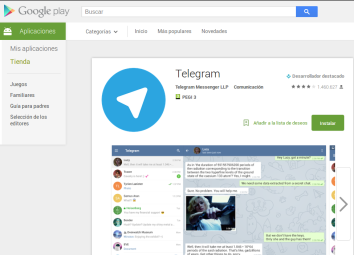Telegram en la Play Store