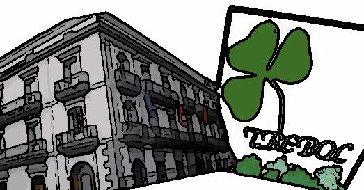 Trébol-Ayuntamiento, de cómic