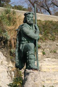 Monumento al cántabro, en Santander (WikiMedia).
